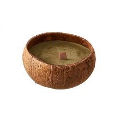 Bougie naturelle dans coquille de noix coco Brass - Chic Mic