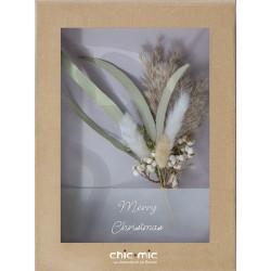 Coffret fleurs séchées Merry Christmas - Chic Mic