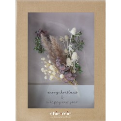 Coffret fleurs séchées Merry Christmas & Happy New Year - Chic Mic