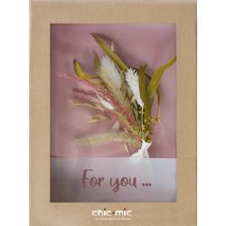 Coffret fleurs séchées For You - Chic Mic
