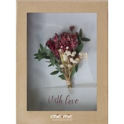 Coffret fleurs séchées White Love - Chic Mic