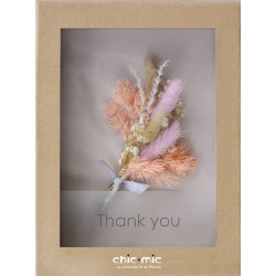 Coffret fleurs séchées Thank You - Chic Mic