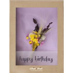 Coffret fleurs séchées Happy Birthday - Chic Mic