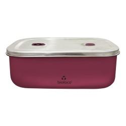 Lunchbox 500ml en acier inoxydable Berry Red - Bioloco Sky