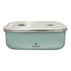 Lunchbox 500ml en acier inoxydable Mint - Bioloco Sky