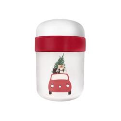 Lunch Pot 2 compartiments Christmas Car - Bioloco Plant