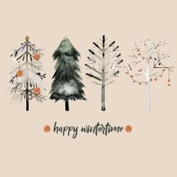 20 Serviettes 100% Bambou 33x33 cm Happy Wintertime - Chic Mic