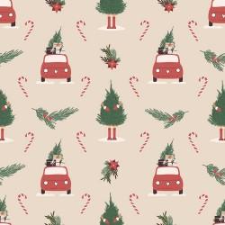 20 Serviettes 100% Bambou 33x33 cm Christmas Pattern - Chic Mic