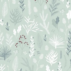 20 Serviettes 100% Bambou 33x33 cm Winter Plants - Chic Mic
