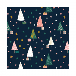 20 Serviettes 100% Bambou 33x33 cm Christmas Tree Forest - Chic Mic