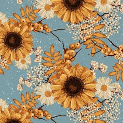 20 Serviettes 100% Bambou 33x33 cm Sunflowers - Chic Mic
