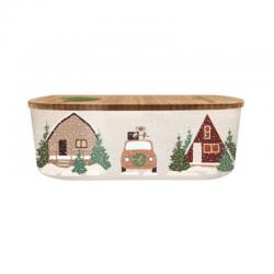 Lunch box 500ml en matiere vegetale Wintertime - Bioloco Plant
