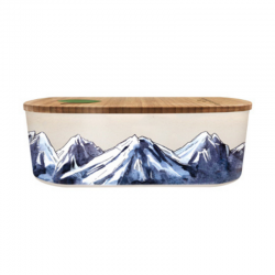 Lunch box 500ml en matiere vegetale Mountaines - Bioloco Plant