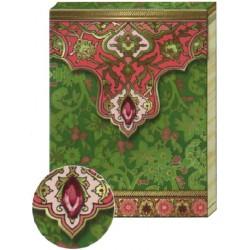 Pocket Carnet Notes 'Cachemire Vert'