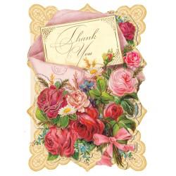 Carte Double PM 3D & ENV. 'Enveloppe Bouquet'