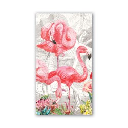 Serviettes en papier rectangulaires 'Flamingo'