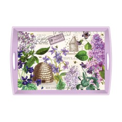 Wooden tray - Lilac and violets
