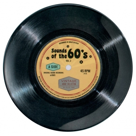 Assiette plate mélamine PM Vintage '60's Single'
