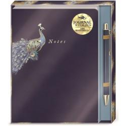 Set carnet de notes & stylo (peacock) 'Indigo Hues'
