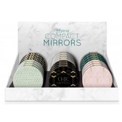 Présentoir de 24 miroirs compacts 'Deco'