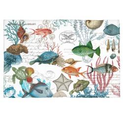 Tapis en coton 'Sea Life'