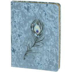 Carnet de notes Velvet (Feather) 'Emerald Peacock'
