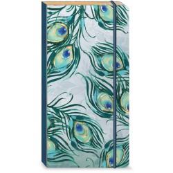 Carnet de notes long Bungee 'Emerald Peacock'