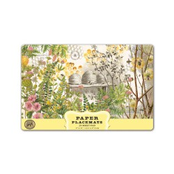Bloc de 25 sets de table en papier 'Honey & Clover'