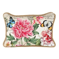 Coussin rectangulaire 'Peony'