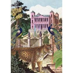 Carte double GM & env. 'WHIMSICAL' (léopard)