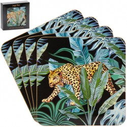 Set de 4 dessous de verre 'Jungle Fever'