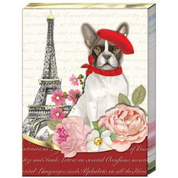 Pocket carnet de notes 'Chien & Tour Eiffel'