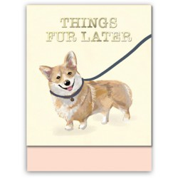 Pocket carnet de notes (dog things fur latter) 'Classic Pets'