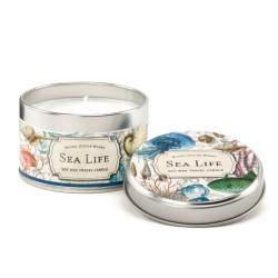 Bougie parfumée (boîte métal, 113 gr) 'Sea Life'