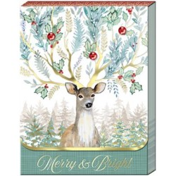 Pocket Carnet Notes 'Merry Bright Deer'