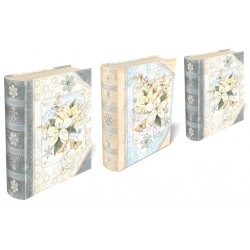 Set 3 boîtes livres GM 'White Snow Poinsettias'