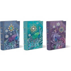 Set 3 boîtes livres PM 'Jeweled Peacocks'