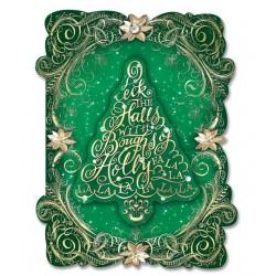 Carte double PM 3D & env. Noël 'Sapin Vert'