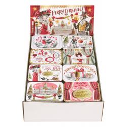 Présentoir de 32 mini boîtes rect. 'Gillian Martin Christmas