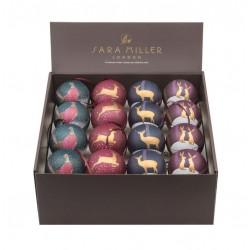 Présentoir 32 boules Sara Miller Noël 'Animals'