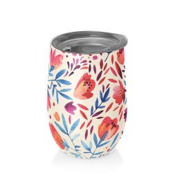 Mug bureau 420 ml (watercolour flowers) ' BIOLOCO OFFICE '