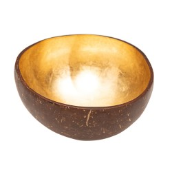 Coconut decorative bowl Gold CHIC MIC