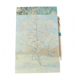 Magnetic jotter and pencil - Van Gogh