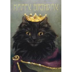 Cards - Happy Birthday - Queen Cat