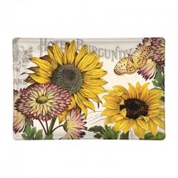 Rectangle glass soap dish - Sunflower