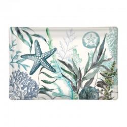 Rectangle glass soap dish - Ocean Tide