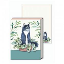 Pocket notepad - Houseplant Black Cat