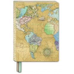 Soft cover journal with bookmark - Globes