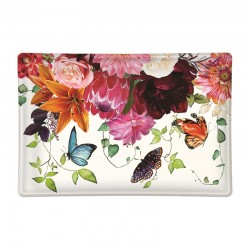 Rectangle glass soap dish - Sweet Floral Melody