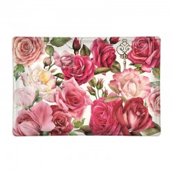 Rectangle glass soap dish - Royal Rose
